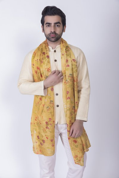 Digital Print Yellow Stole