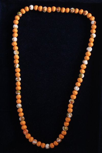 Printed Bead Necklace