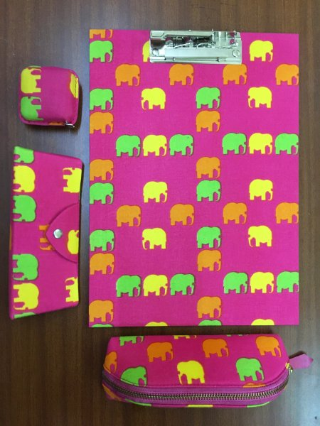 Elephant Print Stationary Items