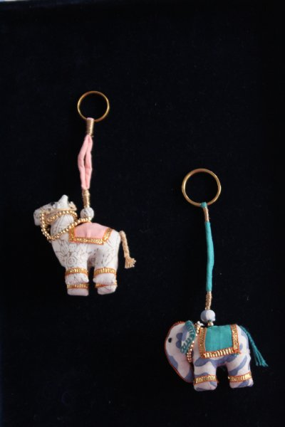 Camel and Elephant Keychain